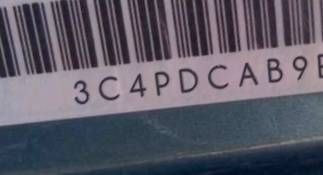 VIN prefix 3C4PDCAB9ET1