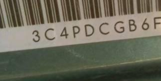 VIN prefix 3C4PDCGB6FT5