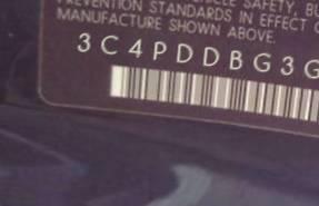 VIN prefix 3C4PDDBG3GT1