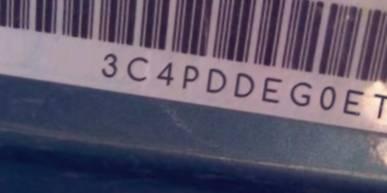 VIN prefix 3C4PDDEG0ET1