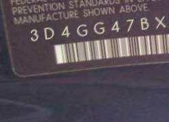 VIN prefix 3D4GG47BX9T1