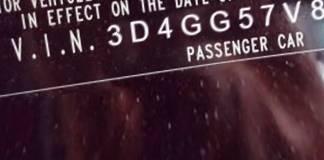 VIN prefix 3D4GG57V89T1