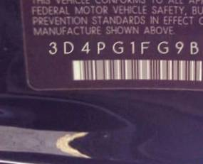VIN prefix 3D4PG1FG9BT5