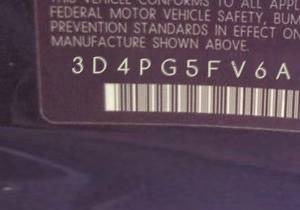 VIN prefix 3D4PG5FV6AT1