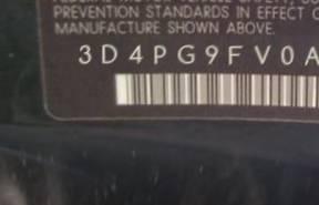 VIN prefix 3D4PG9FV0AT2