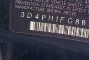 VIN prefix 3D4PH1FG8BT5