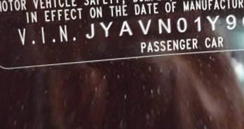 VIN prefix JYAVN01Y9CA0