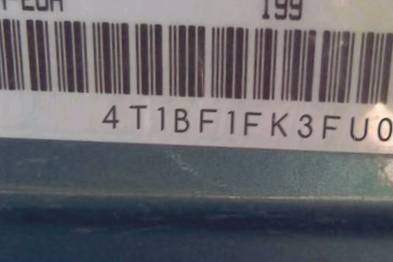 VIN 4T1BF1FK3FU025221