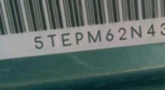 VIN 5TEPM62N43Z229932